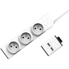 Set PowerStrip Modular 3m cable + USB modul