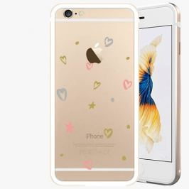 Kryt na mobil iSaprio Alu Gold pro iPhone 6 / 6S - Lovely Pattern